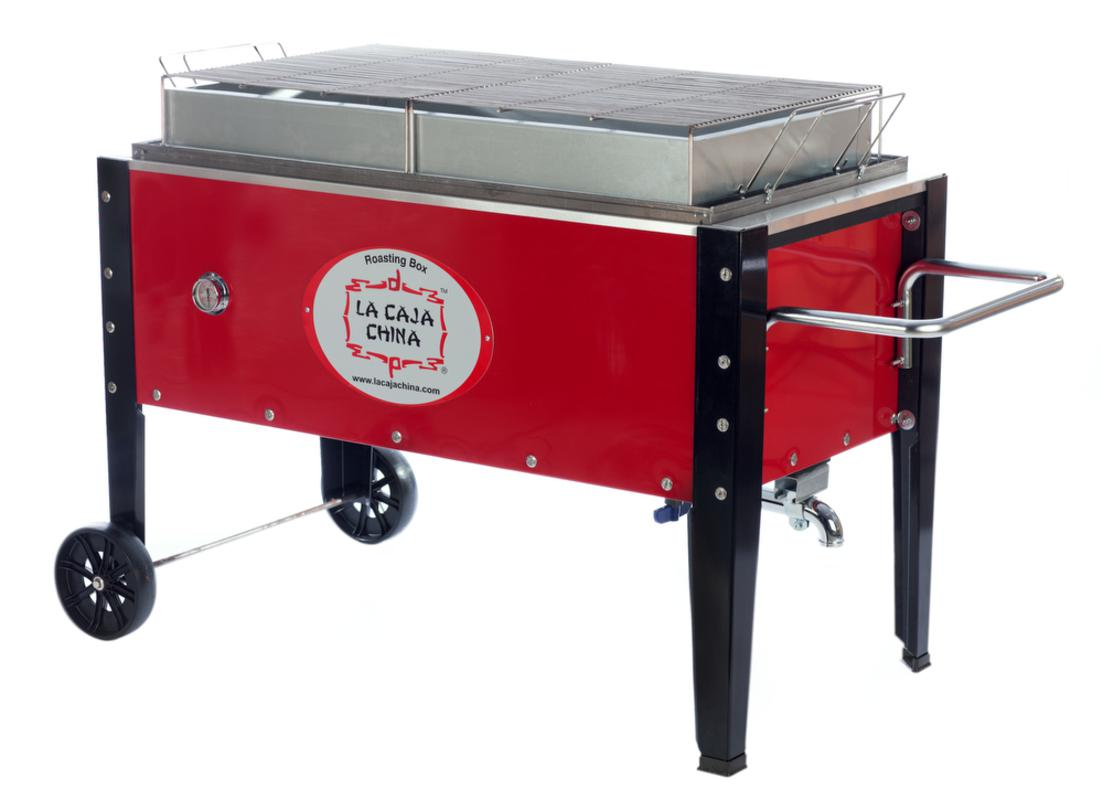 Žar na oglje La Caja China Roasting Box SP-300DP, rdeč